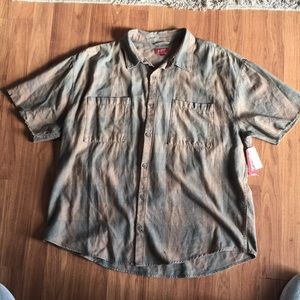 NWT-Arizona Jeans short sleeve flannel shirt